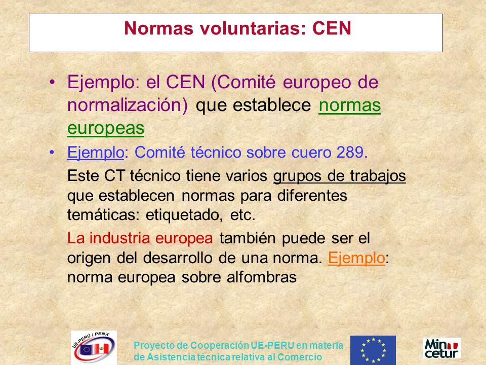 Normas voluntarias: CEN