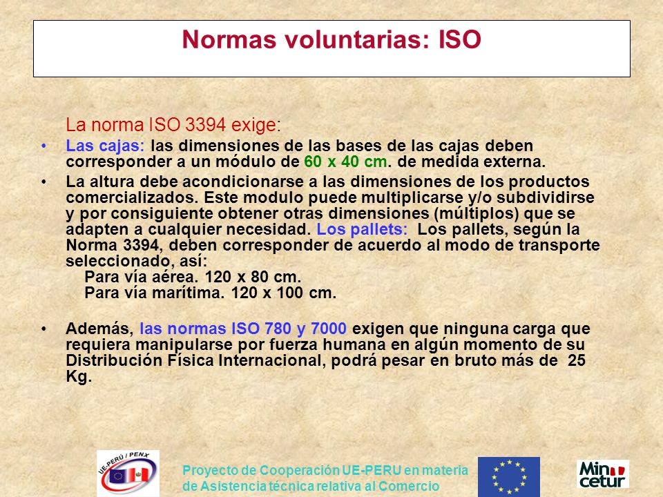 Normas voluntarias: ISO