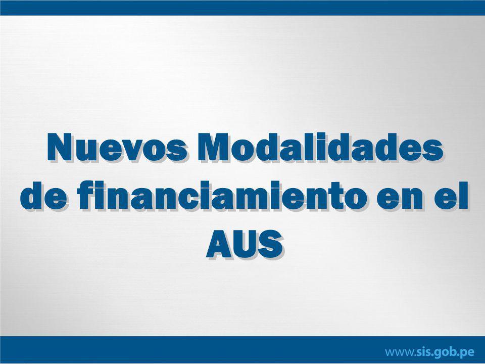 Nuevos Modalidades de financiamiento en el AUS