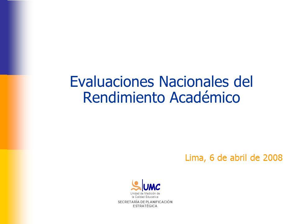 Evaluaciones Nacionales del Rendimiento Académico