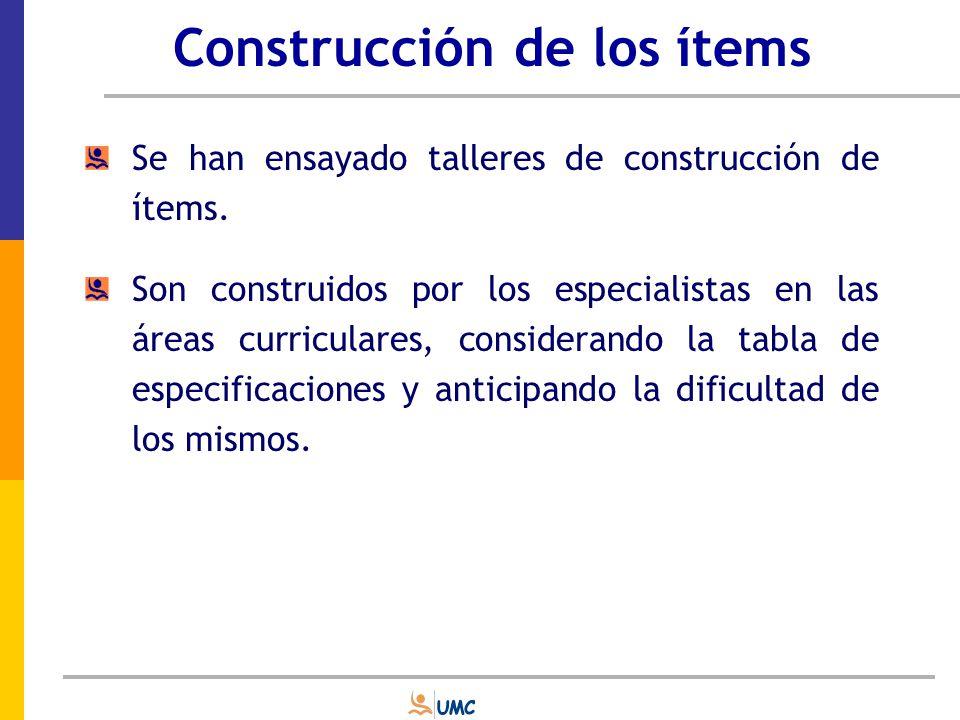 Construcción de los ítems