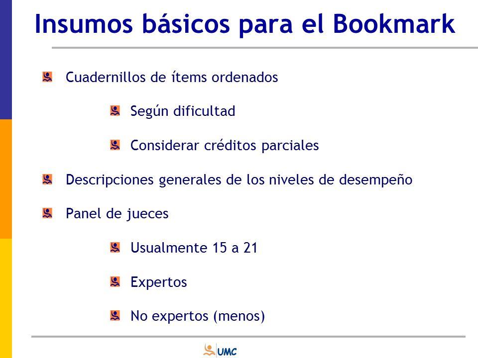 Insumos básicos para el Bookmark