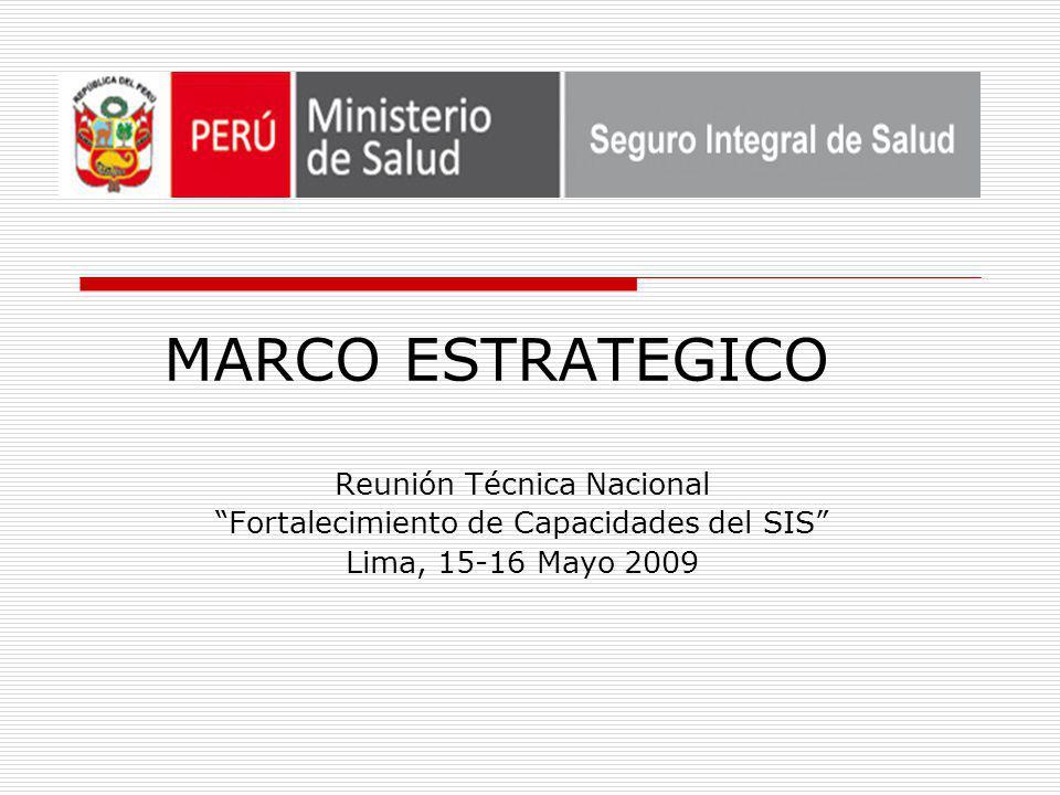 MARCO ESTRATEGICO Reunión Técnica Nacional