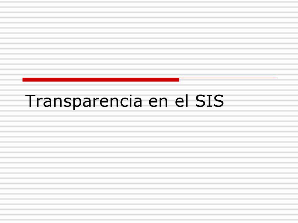 Transparencia en el SIS