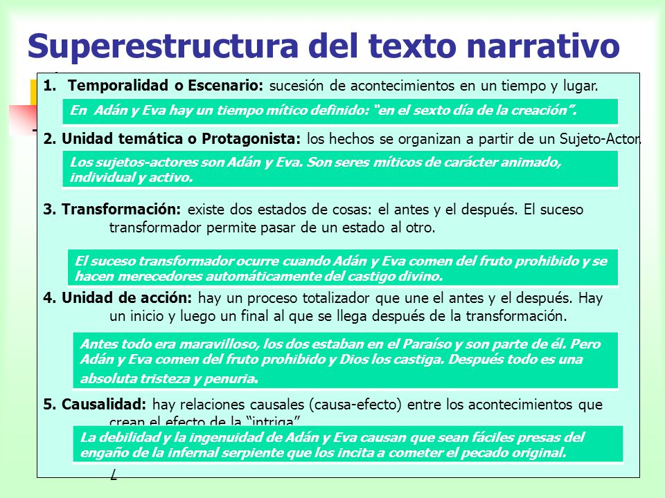 Superestructura del texto narrativo