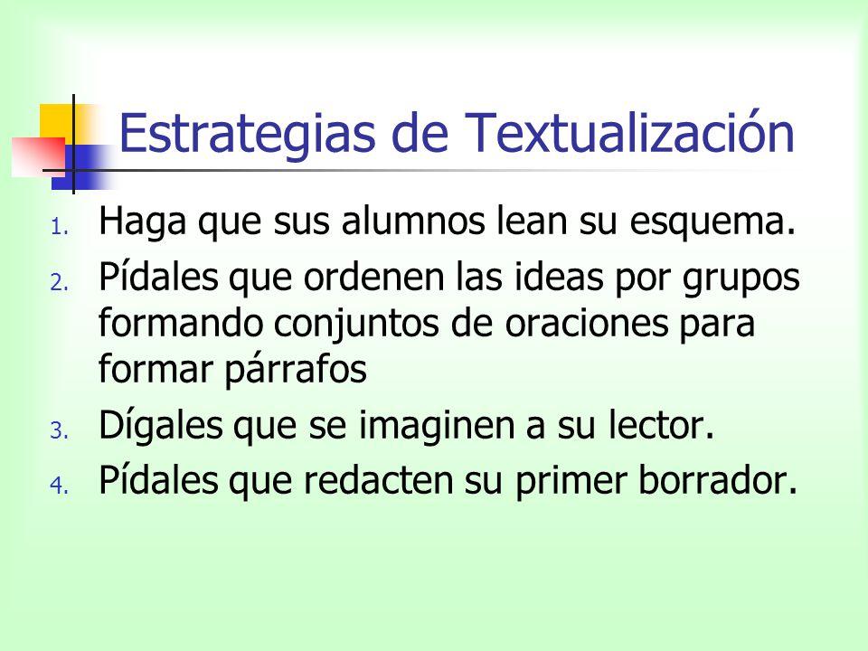 Estrategias de Textualización