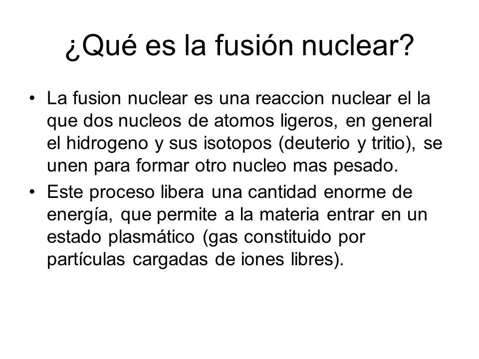 ¿Qué es la fusión nuclear