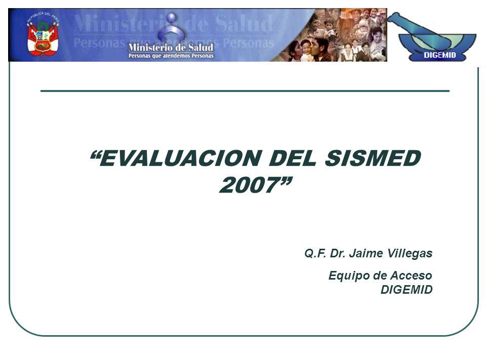 EVALUACION DEL SISMED 2007