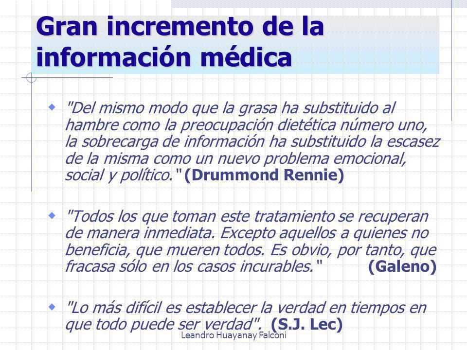 Gran incremento de la información médica