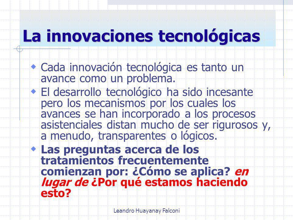 La innovaciones tecnológicas