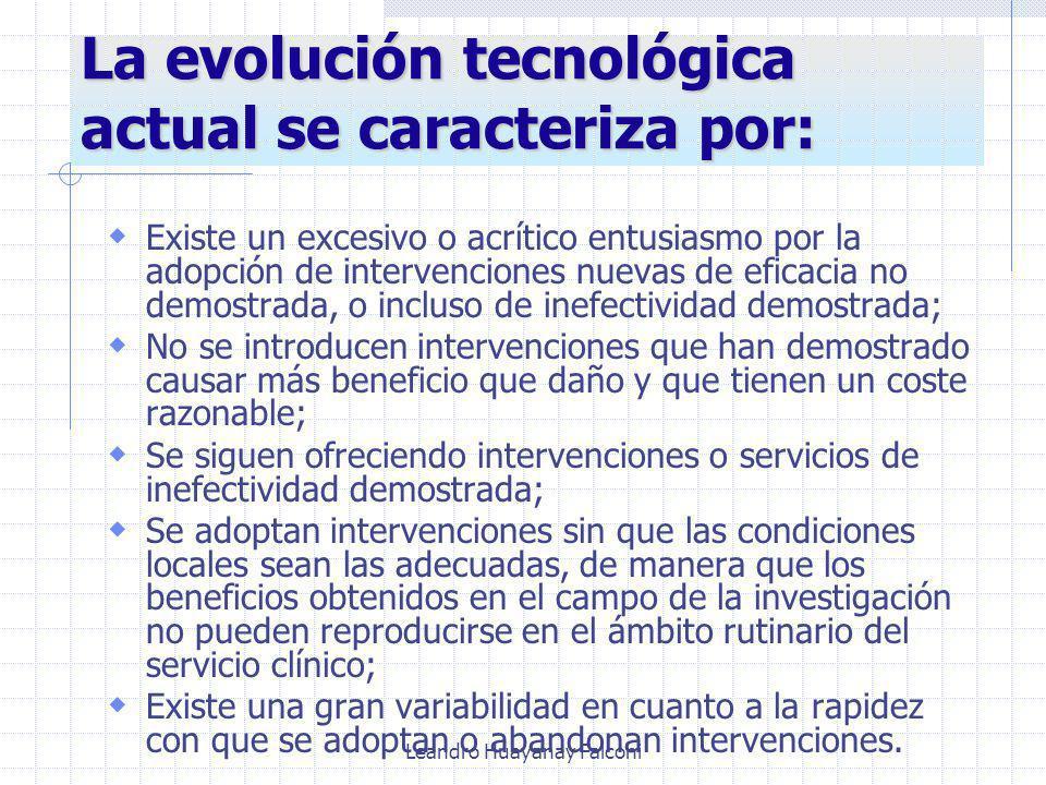 La evolución tecnológica actual se caracteriza por: