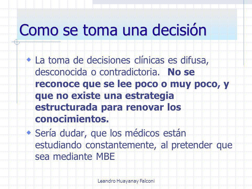 Como se toma una decisión