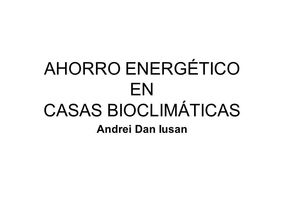 AHORRO ENERGÉTICO EN CASAS BIOCLIMÁTICAS