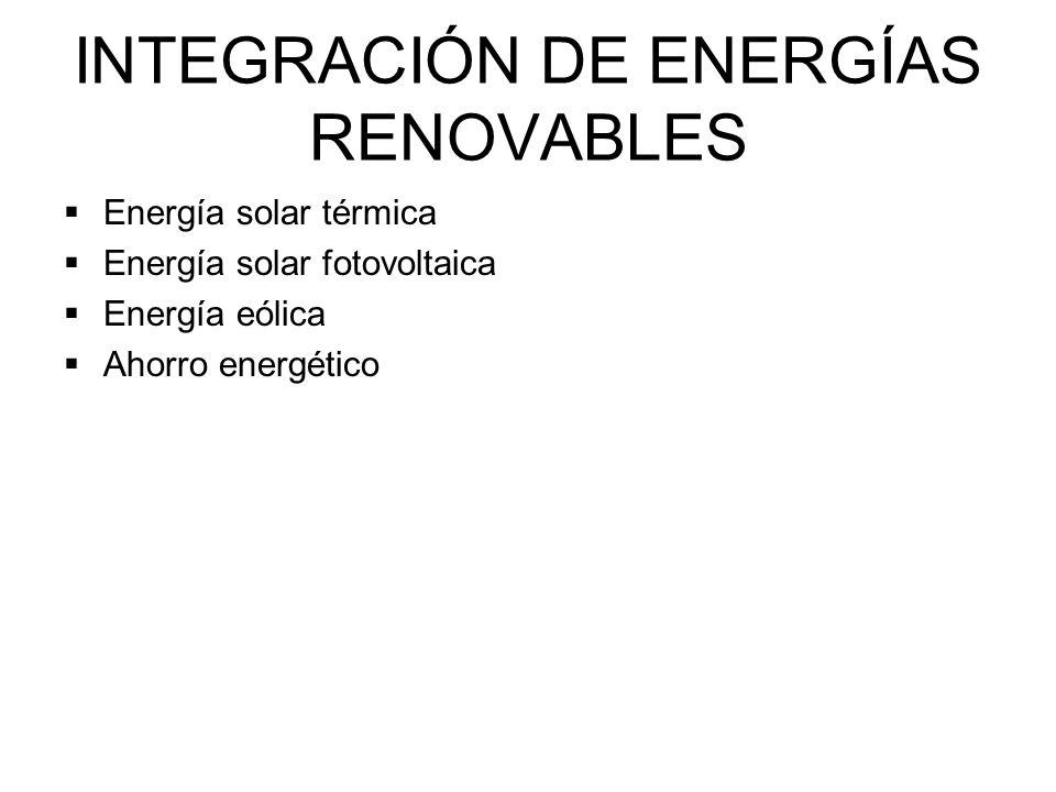 INTEGRACIÓN DE ENERGÍAS RENOVABLES