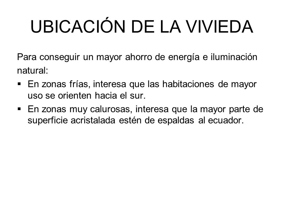UBICACIÓN DE LA VIVIEDA