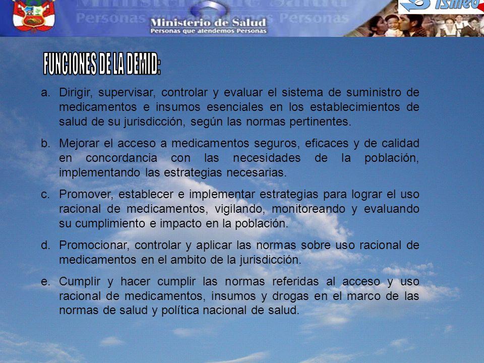 FUNCIONES DE LA DEMID: