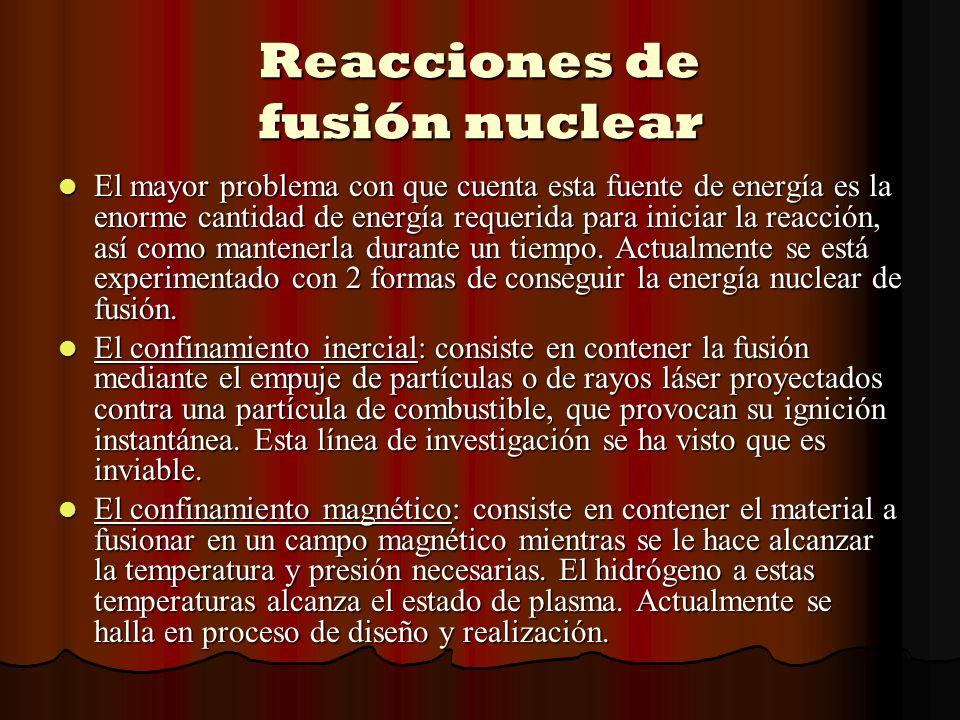 Reacciones de fusión nuclear