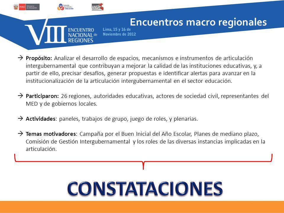 Encuentros macro regionales