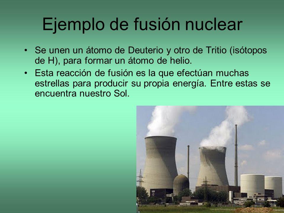 Ejemplo de fusión nuclear