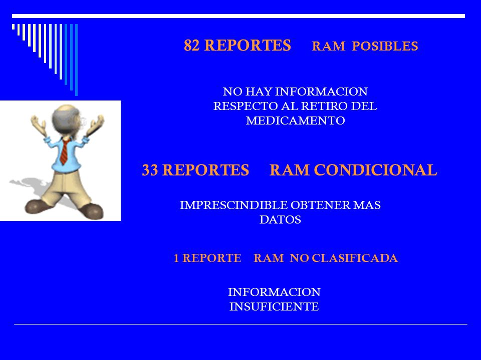33 REPORTES RAM CONDICIONAL 1 REPORTE RAM NO CLASIFICADA