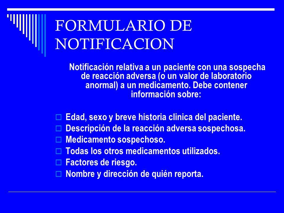FORMULARIO DE NOTIFICACION