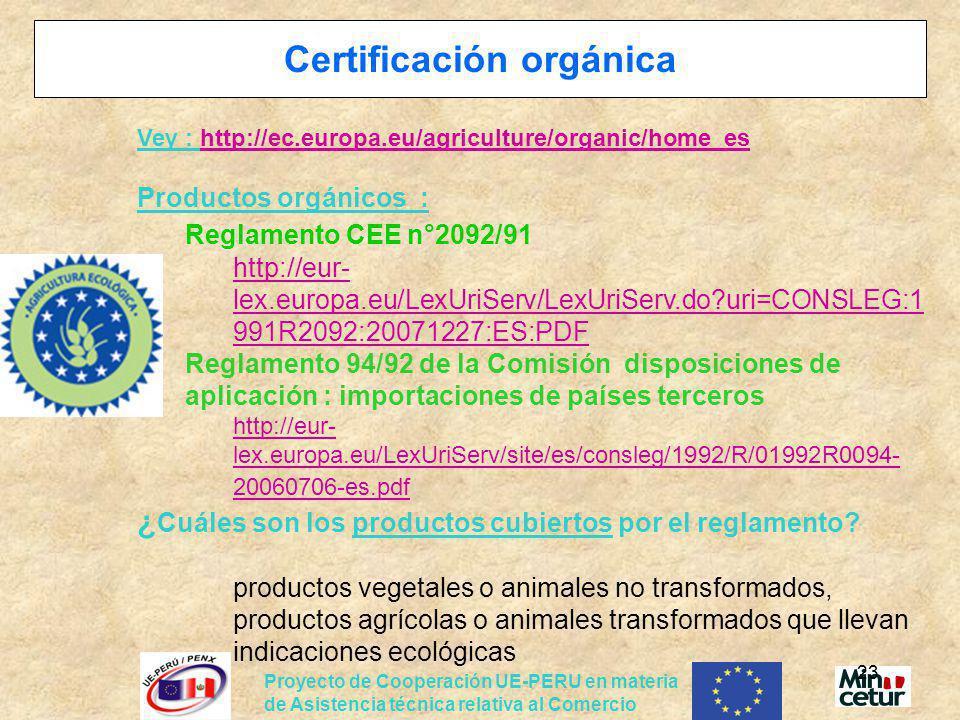 Certificación orgánica