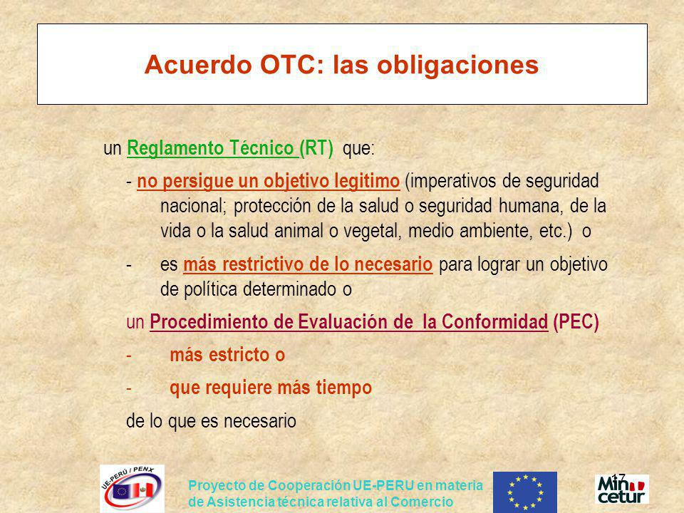 Acuerdo OTC: las obligaciones