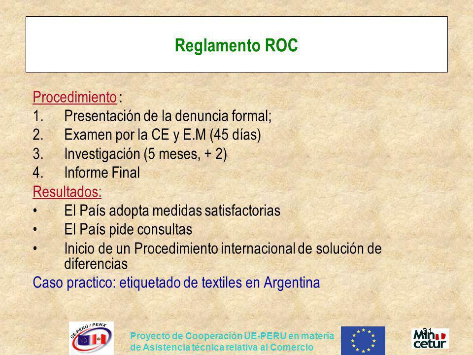 Reglamento ROC Procedimiento : Presentación de la denuncia formal;