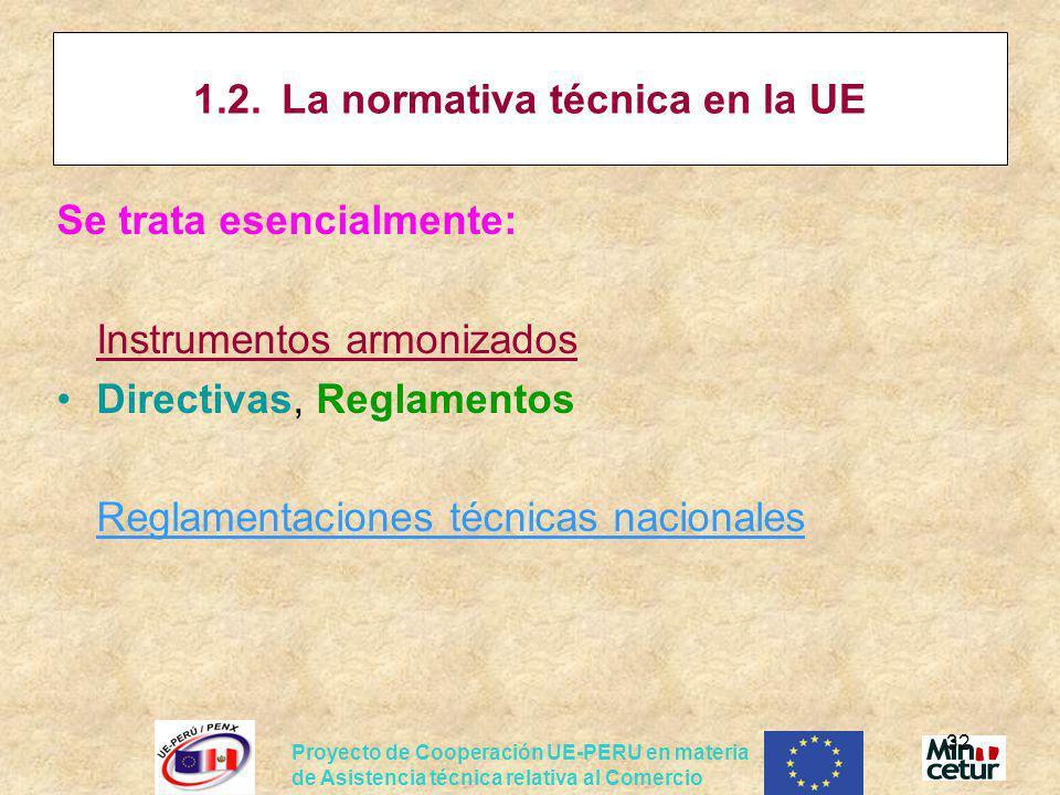 1.2. La normativa técnica en la UE