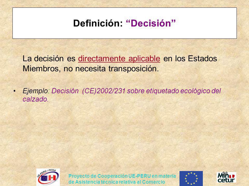 Definición: Decisión