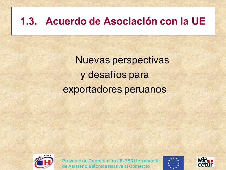 1.3. Acuerdo de Asociación con la UE