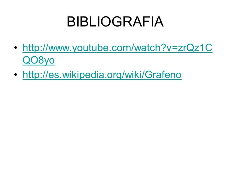 BIBLIOGRAFIA http://www.youtube.com/watch v=zrQz1CQO8yo