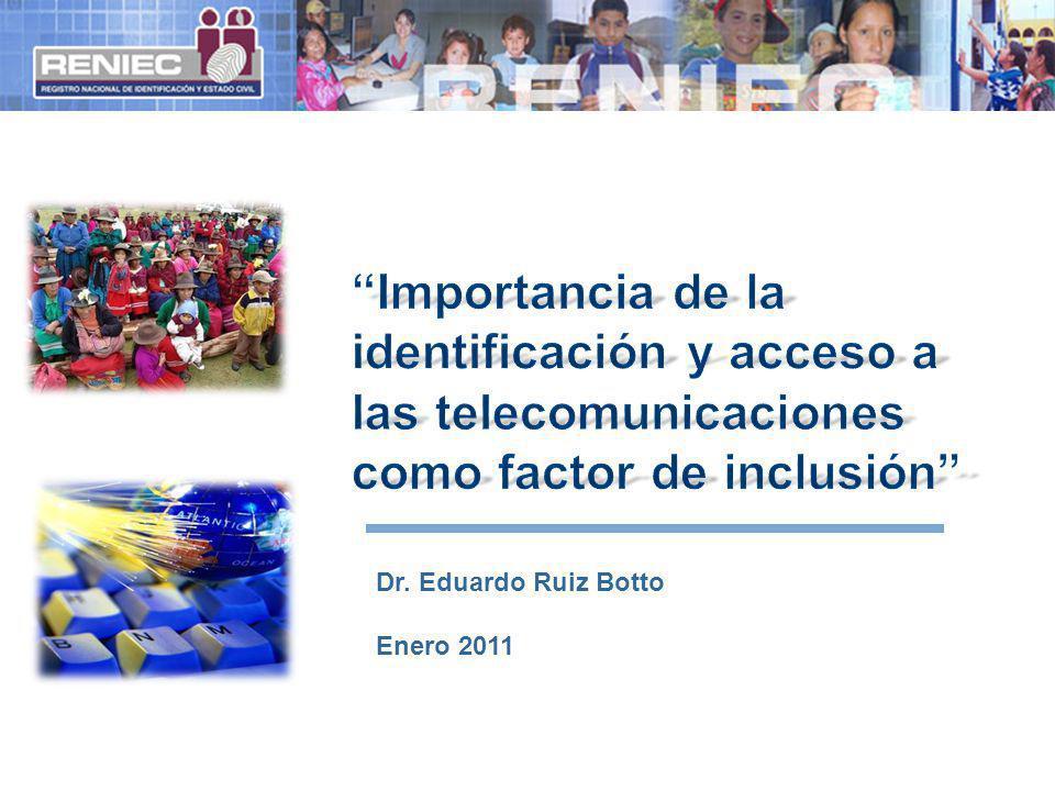 Importancia de la identificación y acceso a las telecomunicaciones como factor de inclusión