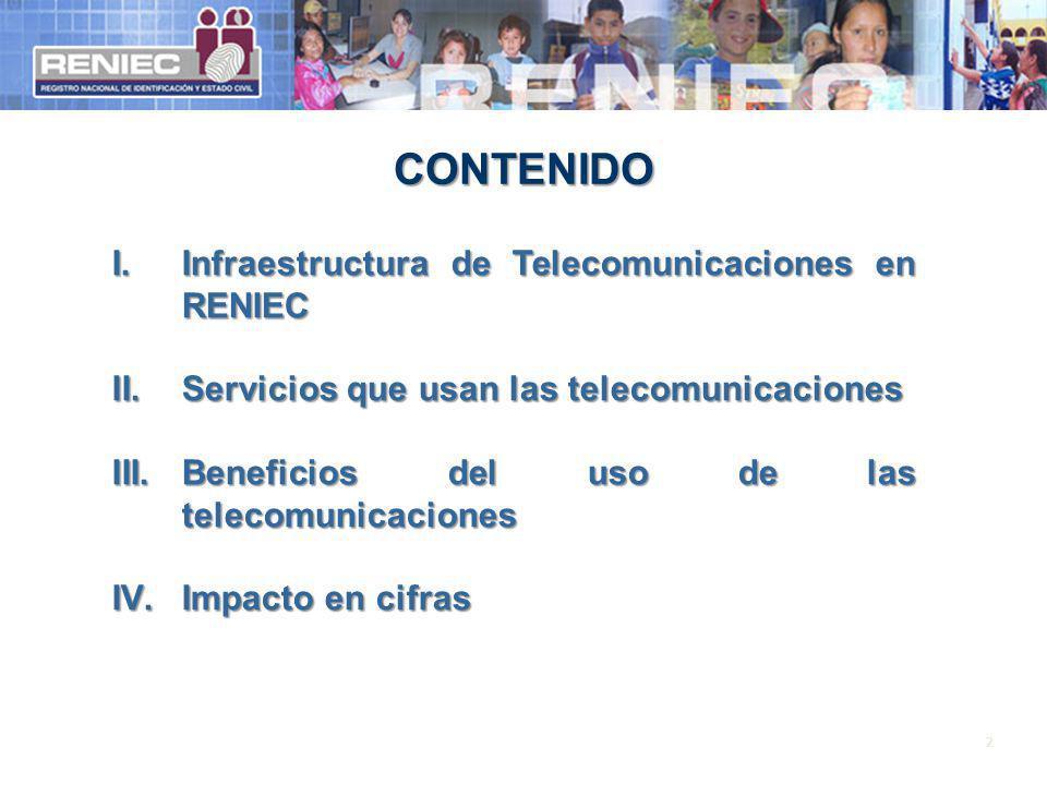 CONTENIDO Infraestructura de Telecomunicaciones en RENIEC