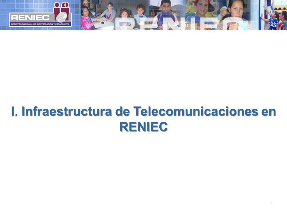 I. Infraestructura de Telecomunicaciones en RENIEC