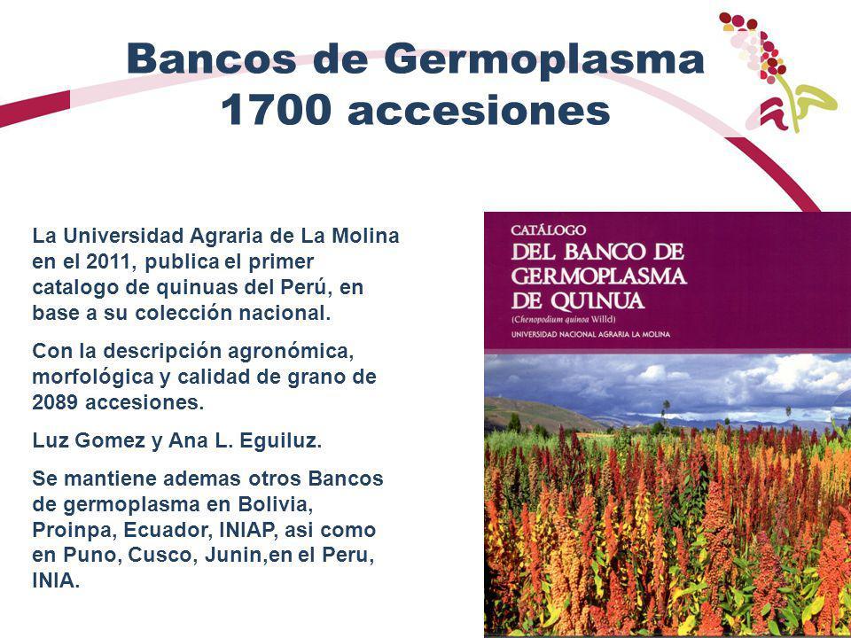 Bancos de Germoplasma 1700 accesiones