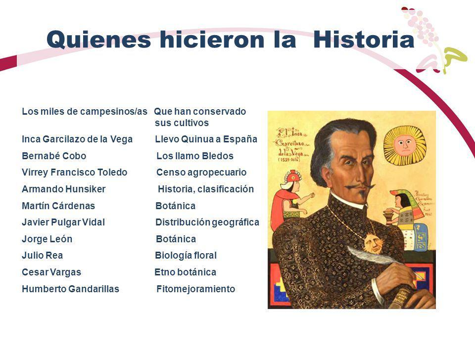 Quienes hicieron la Historia