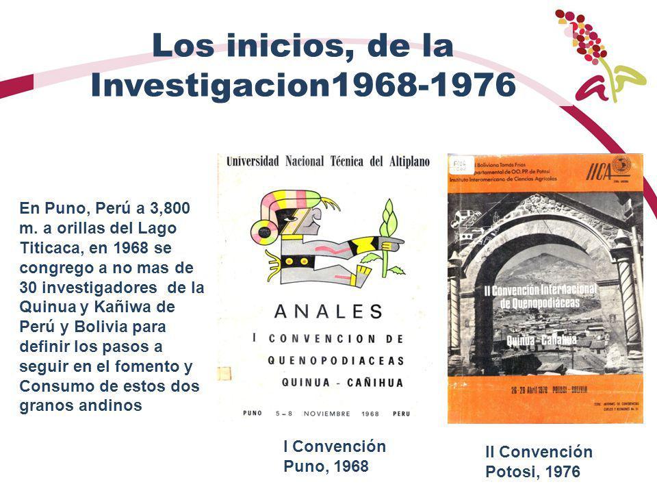 Los inicios, de la Investigacion1968-1976