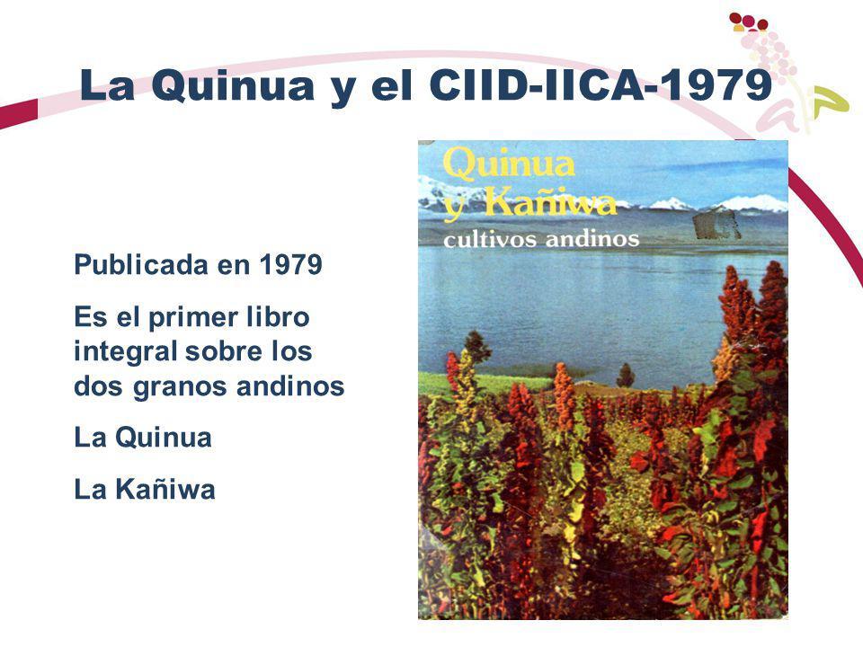 La Quinua y el CIID-IICA-1979