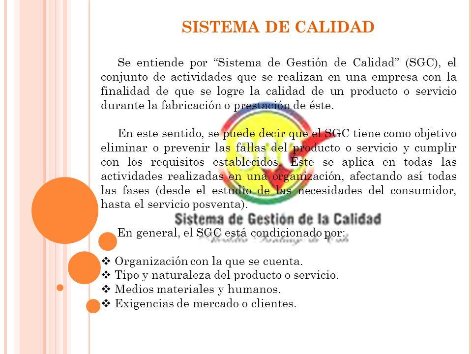 SISTEMA DE CALIDAD