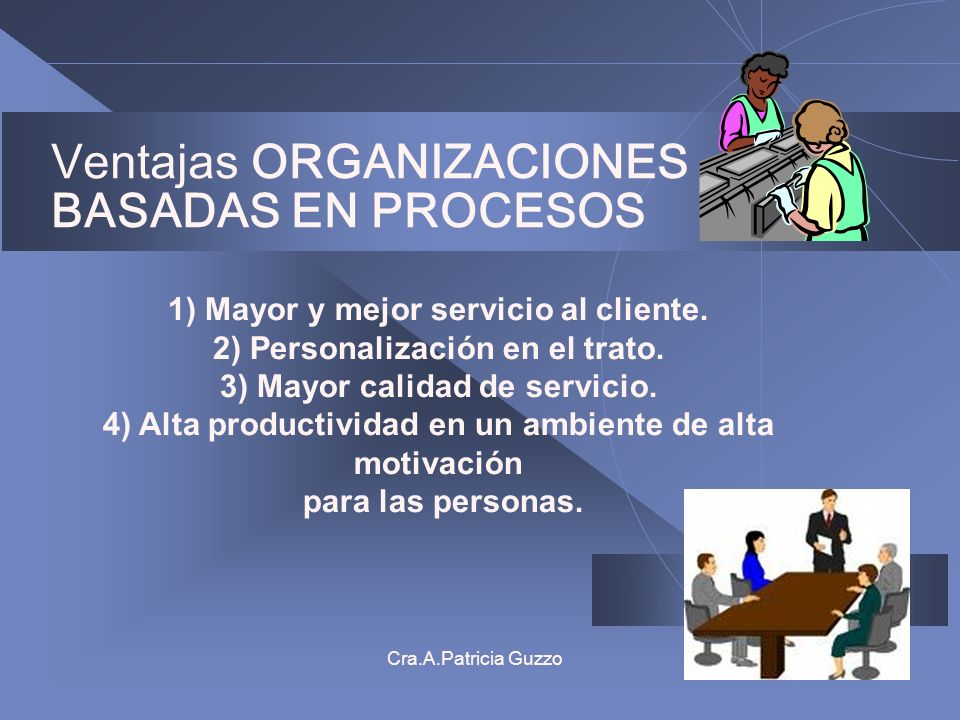 Ventajas ORGANIZACIONES BASADAS EN PROCESOS