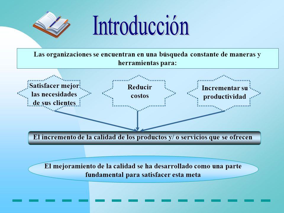 Introducción Las organizaciones se encuentran en una búsqueda constante de maneras y herramientas para:
