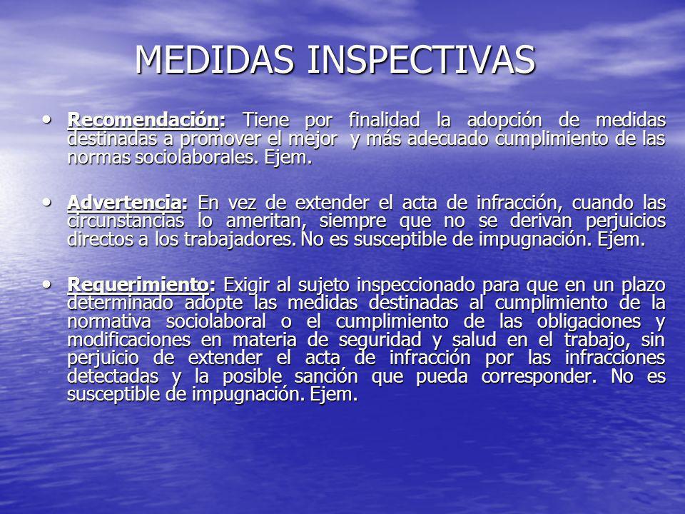 MEDIDAS INSPECTIVAS