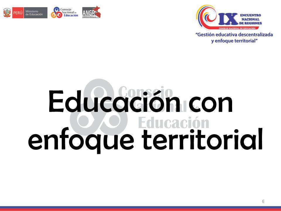 Educación con enfoque territorial