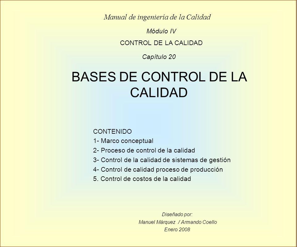BASES DE CONTROL DE LA CALIDAD