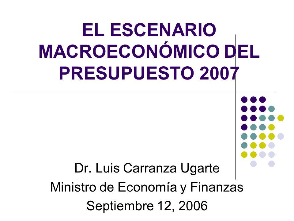 EL ESCENARIO MACROECONÓMICO DEL PRESUPUESTO 2007