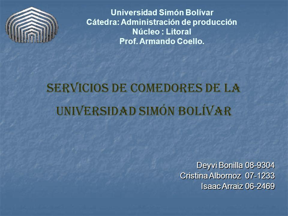 Universidad Simón Bolívar Cátedra: Administración de producción
