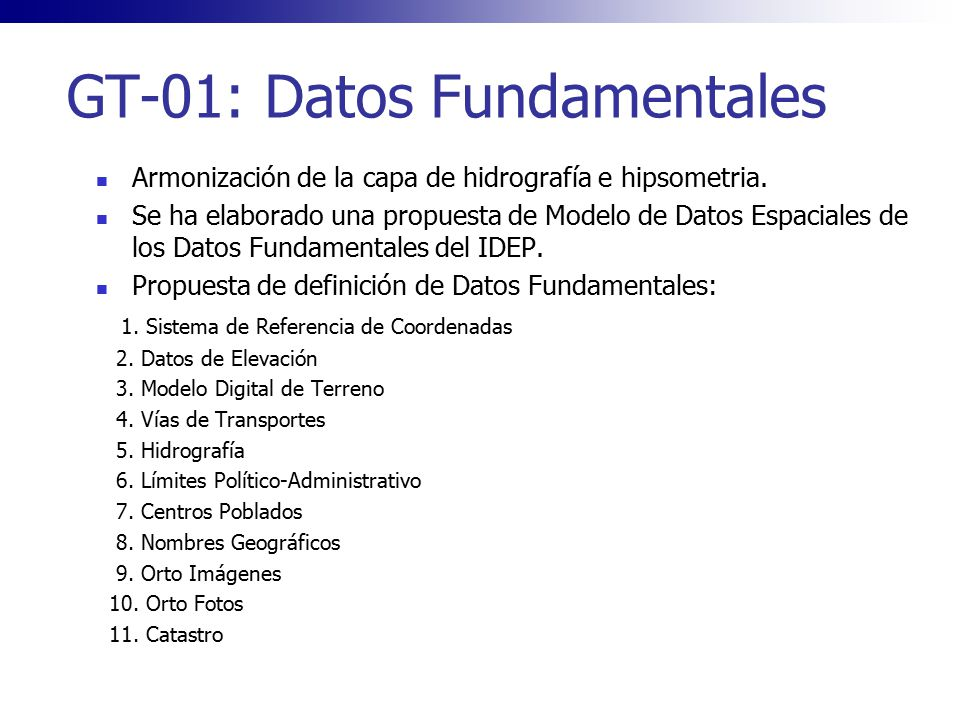 GT-01: Datos Fundamentales