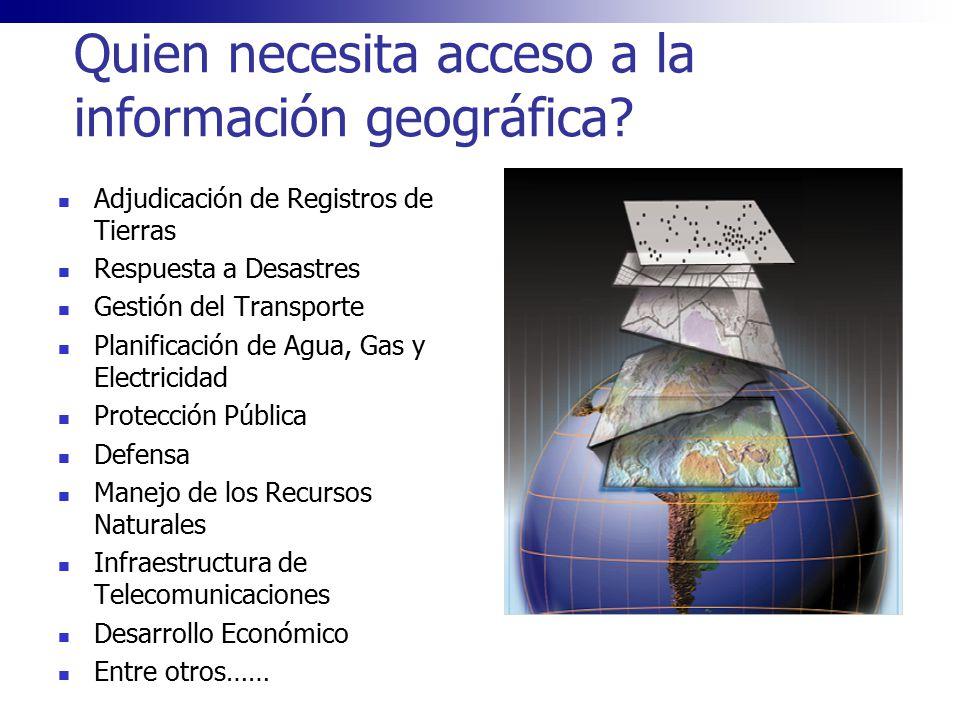 Quien necesita acceso a la información geográfica