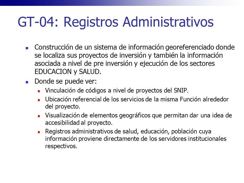 GT-04: Registros Administrativos